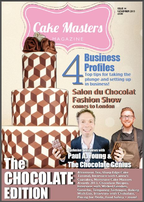 Wicked Goodies on the cover of Cake Masters Magazine