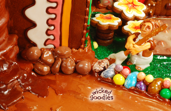 Gingerbread House Waterfall Tutorial