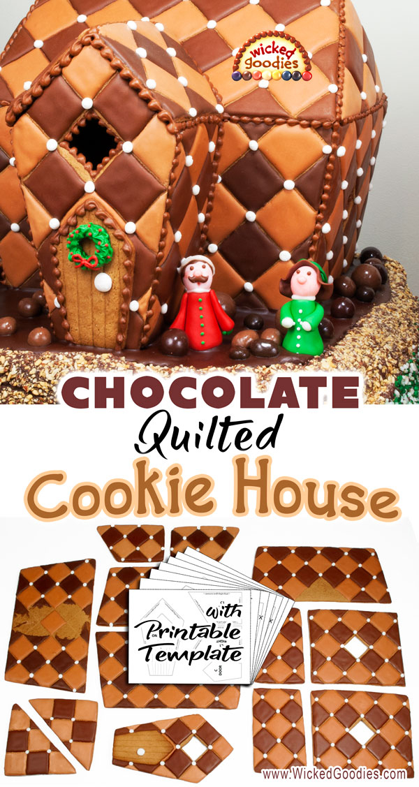 Chocolate Quilted Gingerbread House