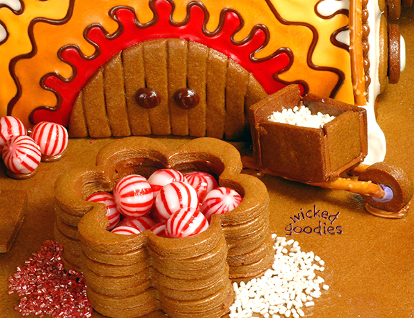 Gingerbread House Cookie Vats and Candy Delivery Systems