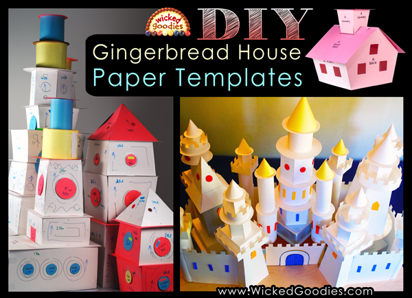 Gingerbread House DIY Paper Templates