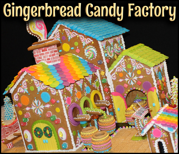 Gingerbread House Candy Factory