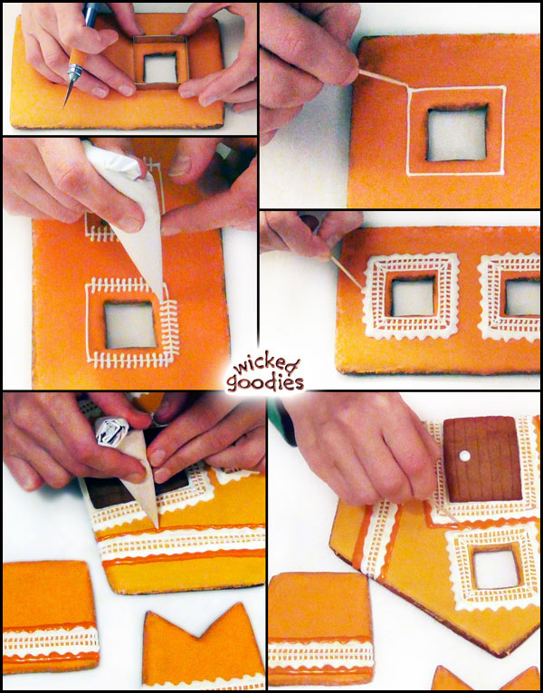Orange Creamsicle Lace Trimmed Gingerbread House