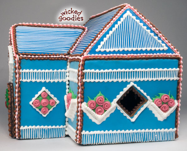 Overpiped Gingerbread House
