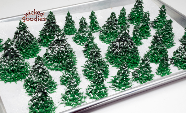 Royal Icing Fir Trees