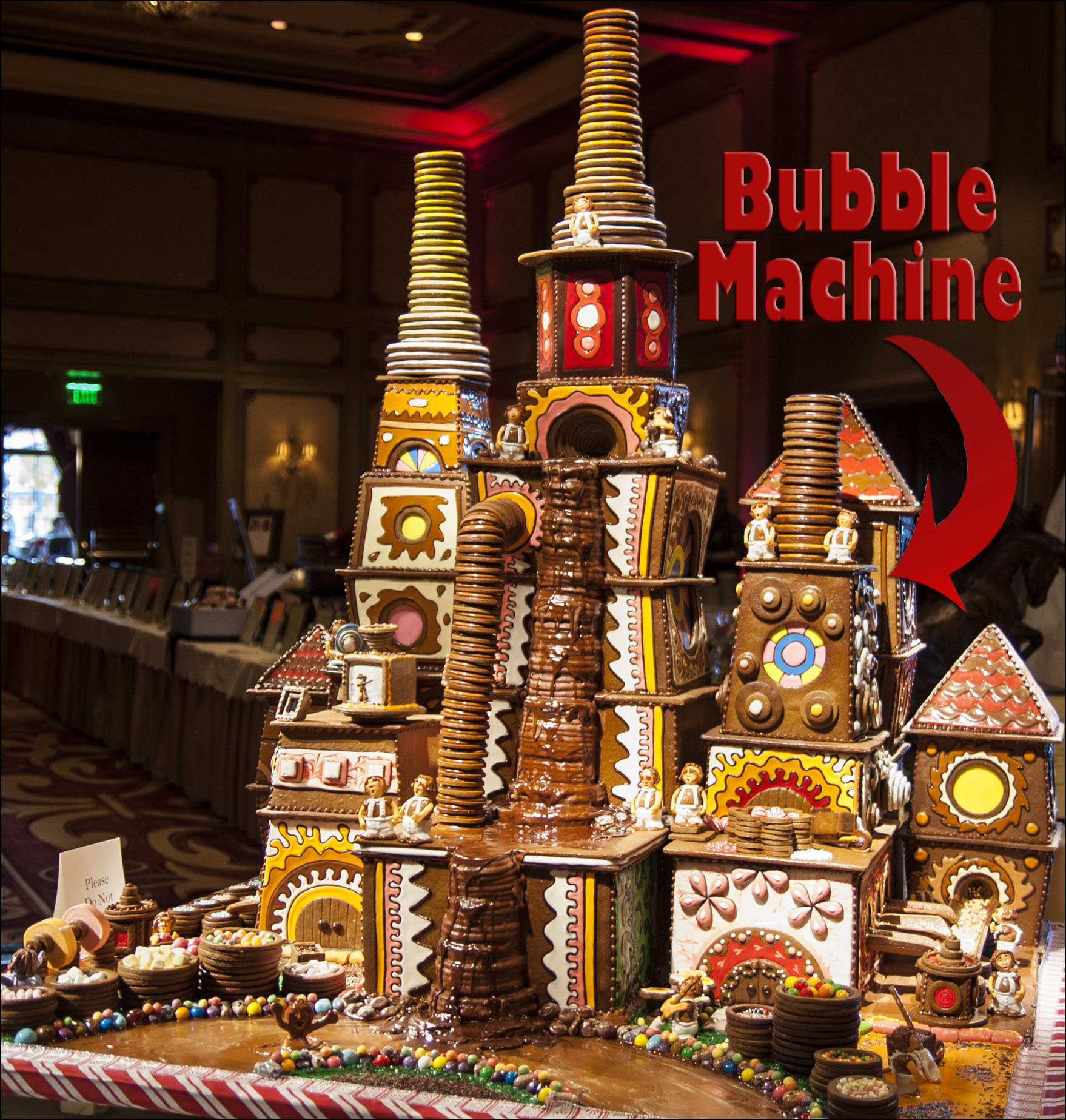 Gingerbread House Bubble Machine