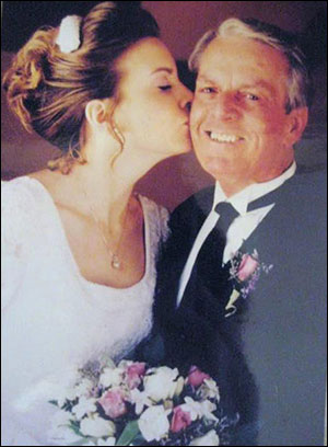 Jen Drury with her father
