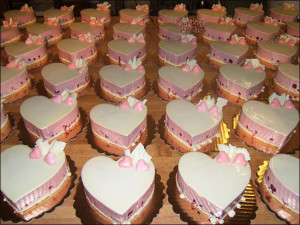 Valentines Day Heart Cakes
