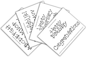 Chocolate Cake Writing Templates