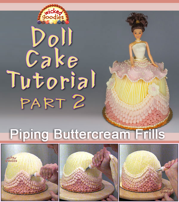 How to Make a Doll Skirt Cake Part 2