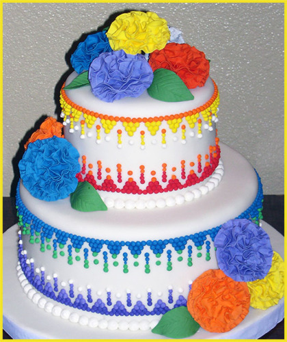 Mexican Fiesta Cake with Fondant