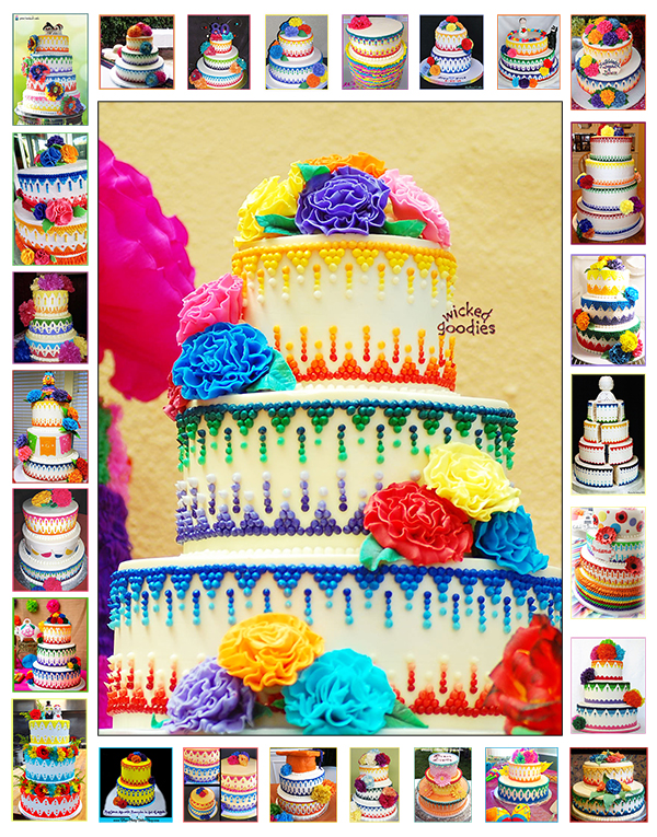 Mexican Fiesta Cake Inspiration Train