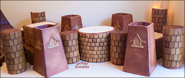 Gingerbread House Castle Parts