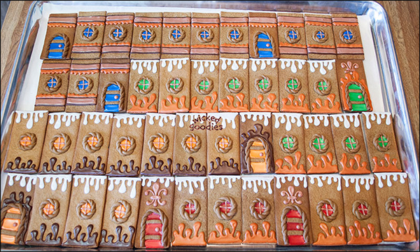 Gingerbread Castle Tower Walls