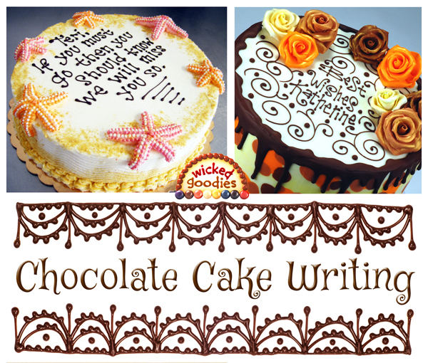 Chocolate Cake Writing Video Tutorial