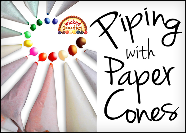Piping with Parchment Paper Cones