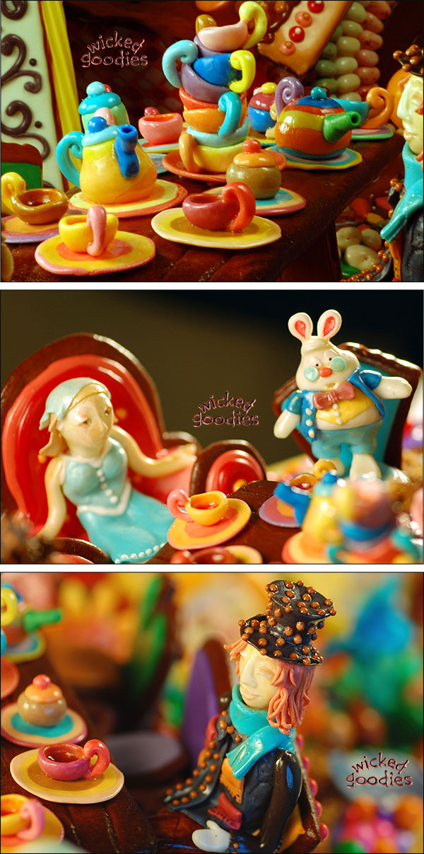 Tea Party Gingerbread House