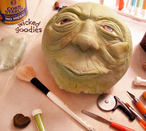 Yoda Head in Modeling Chocolate