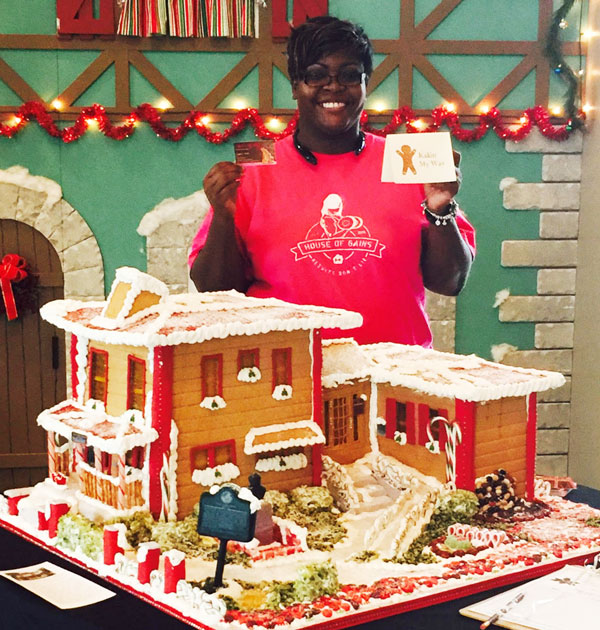 Award-Winning Gingerbread House made by Angela Ward