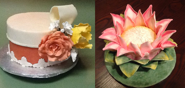 Modeling Chocolate Flower Cakes made by Holly Fredrickson
