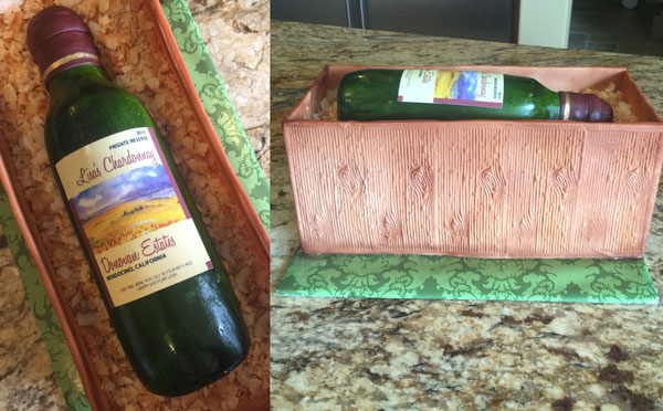 Wine Bottle Cake made by Rita Vascimi