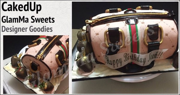 Gucci Bag Cake made by GlamMa Sweets