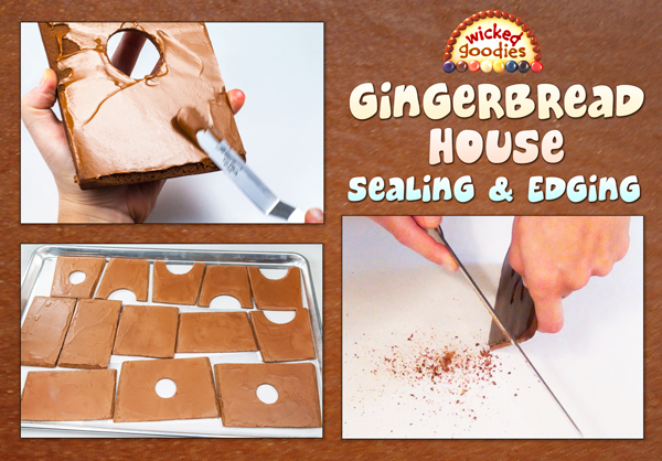 Gingerbread House Building: Sealing and Edging