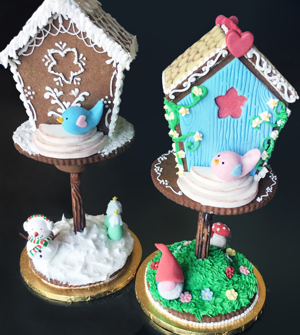 Gingerbread Birdhouses by Noreen Abel