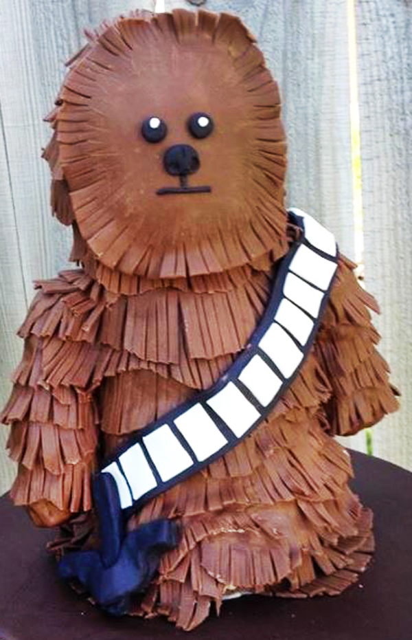 3D Chewbacca Cake made by Holly Fredrickson