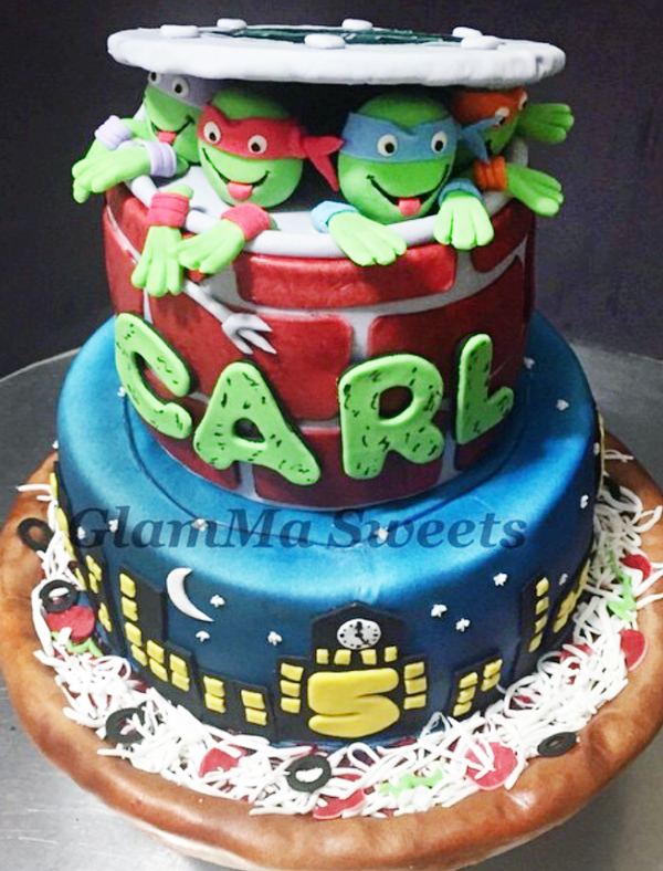 Ninja Turtles Cake made by Brenda Broadway of BB Bakes Sugar Art