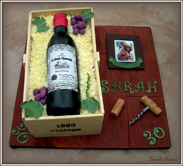 Wine Bottle Crate Cake made by Sarah Harris
