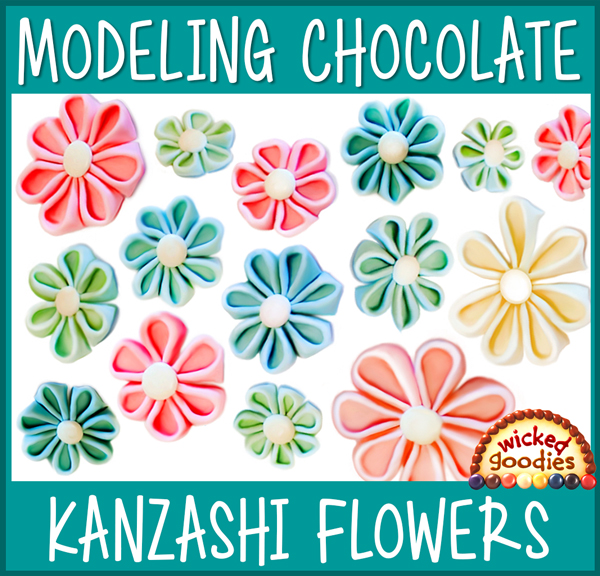 Folded Kanzashi Flowers Tutorial