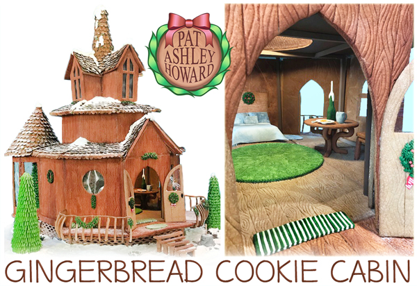 Gingerbread Cookie Wood Cabin