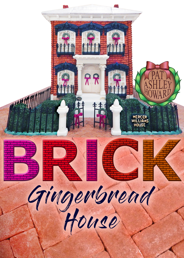 Red Brick Colonial Style Gingerbread House
