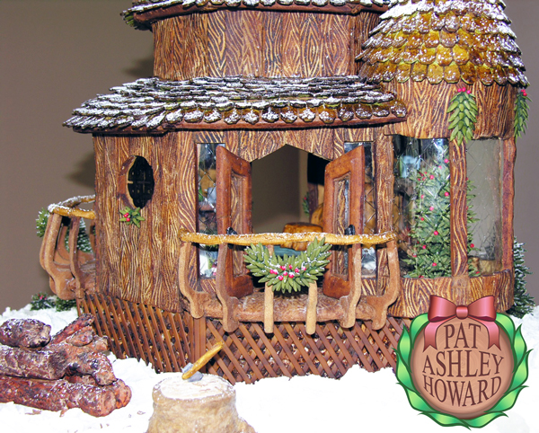 Woodland Winter Gingerbread Cabin