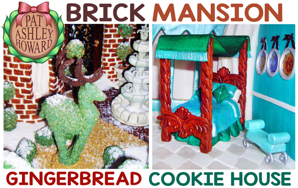 Brick Mansion Gingerbread House