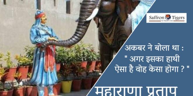 Maharana Partap and his elephant