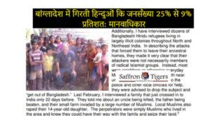 Hindu Population in Bangladesh