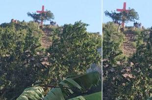 Cross built on govt land
