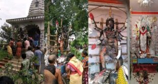 Maa kali idol destroyed