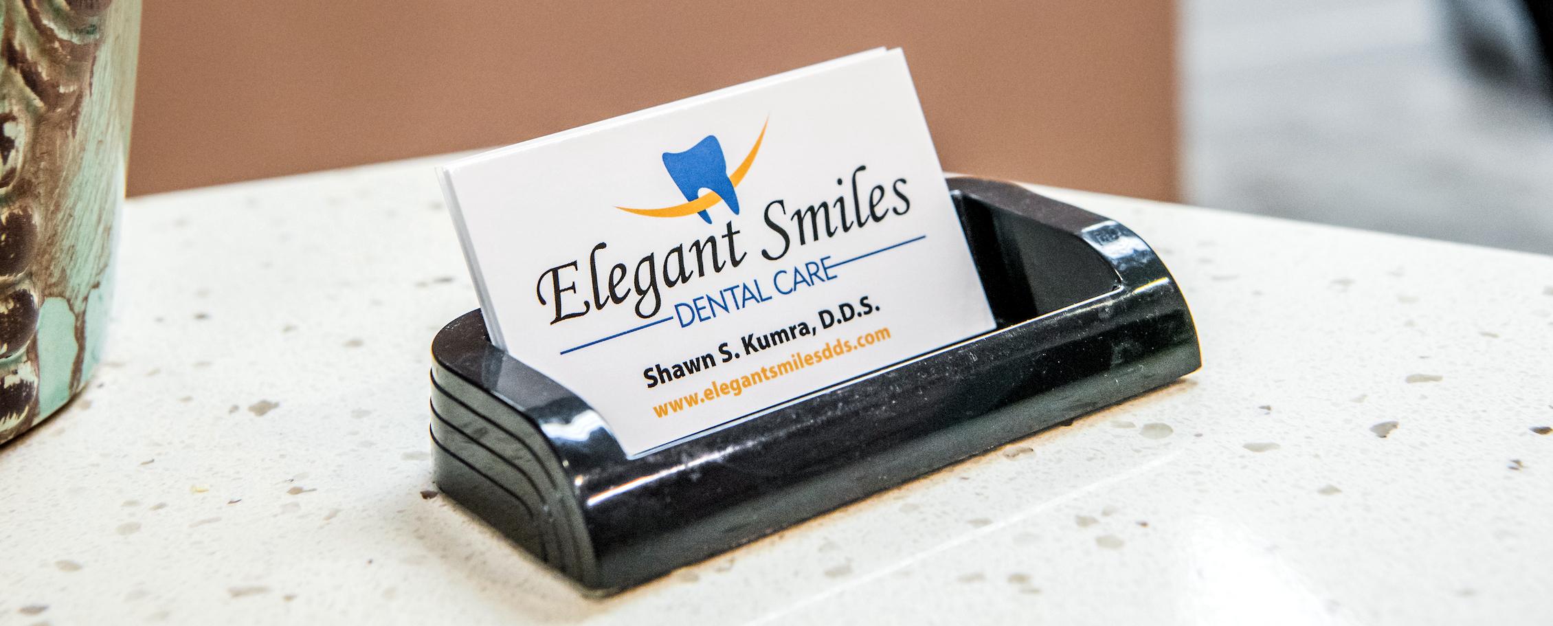 Elegant Smiles Dental Care Business Card