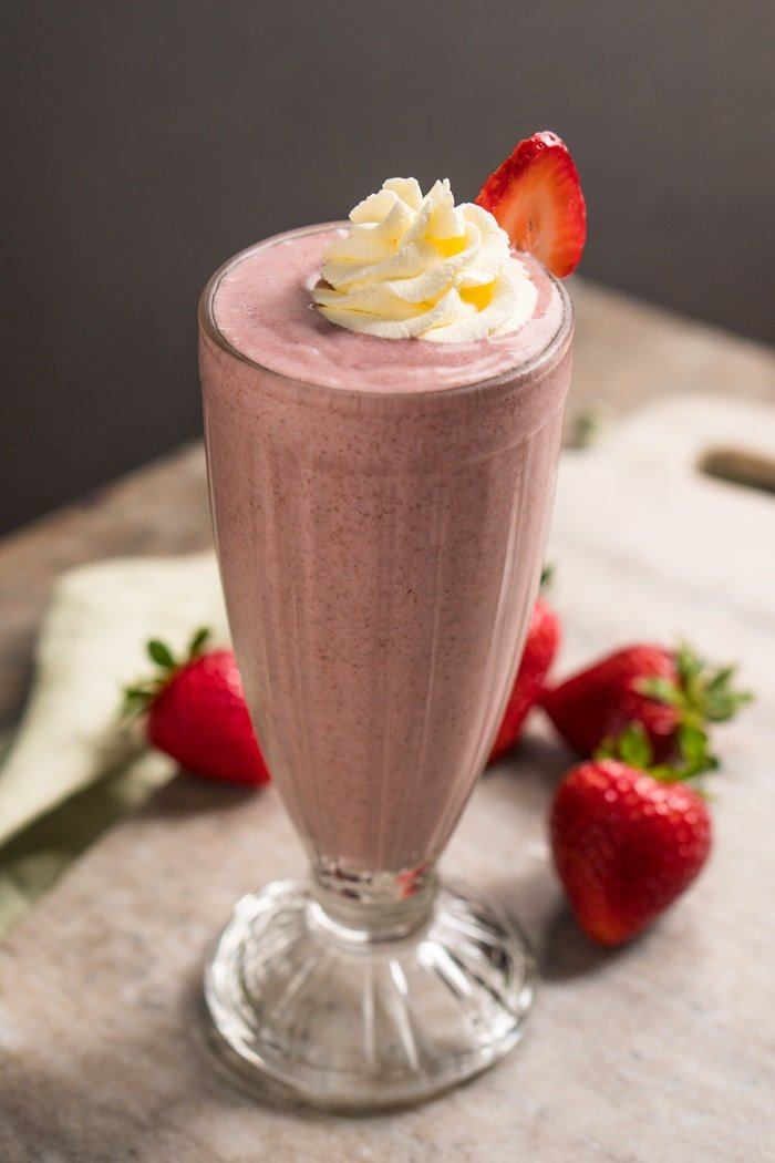 Keto Strawberries and Cream Shake