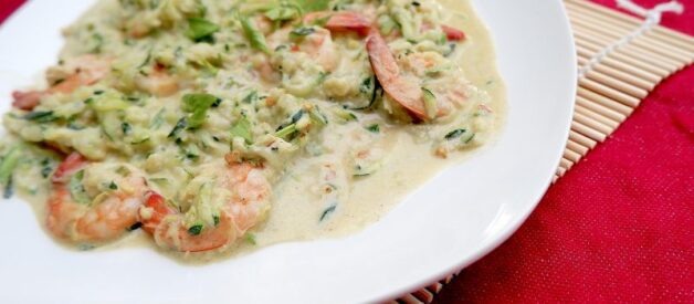 zuchini and shrimp scampi