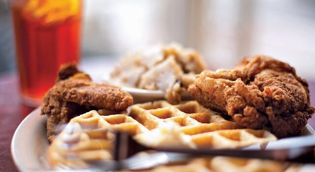 crispy chicken and waffles