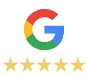 5 stars from Google