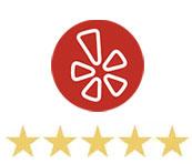 5 stars from Yelp