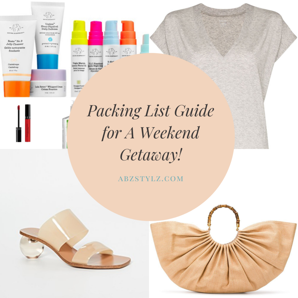 Packing Guide List- Summer Getaway