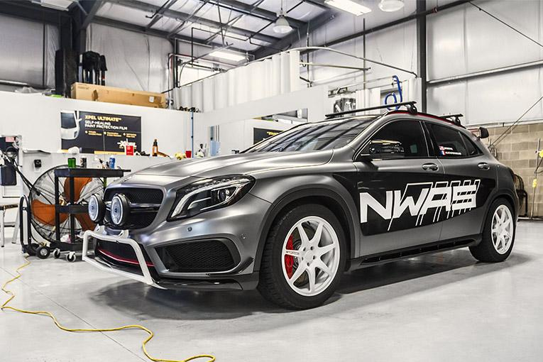 Car featured with Ceramic Pro Stickers and Racing Design