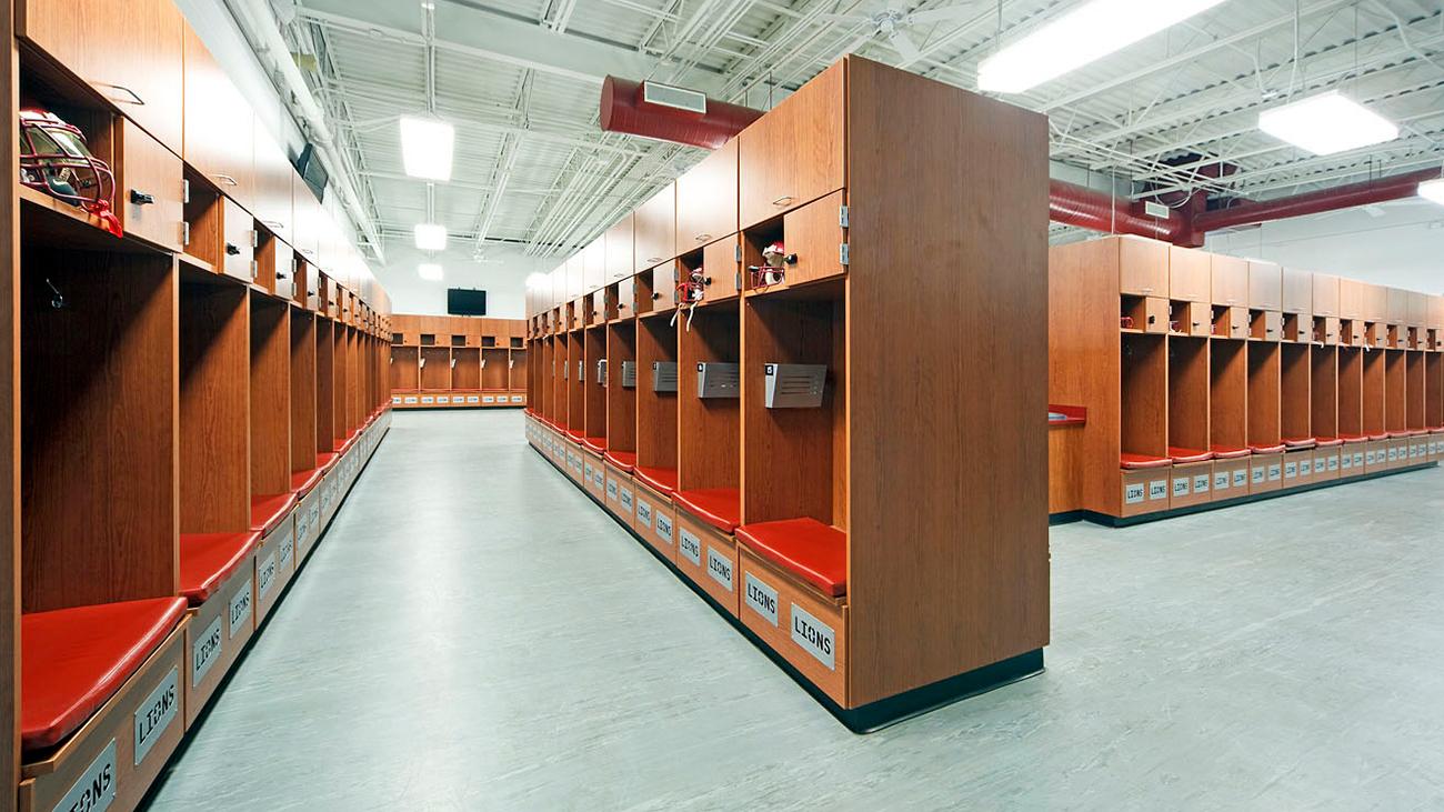 Ouachita High School Field House – Locker Room