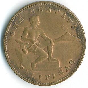 Philippines Coin 1937 One Centavo Obverse
